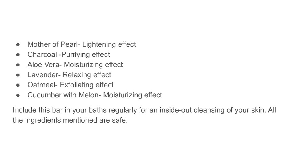 ● Mother of Pearl- Lightening effect ● Charcoal...
