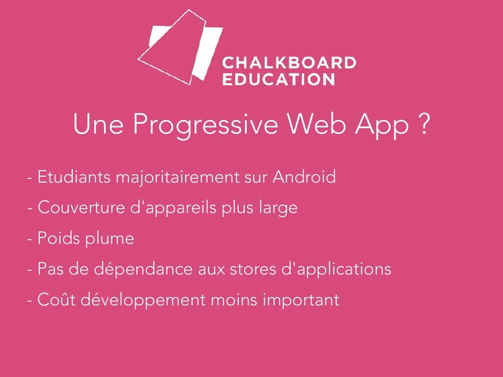 Une Progressive Web App ? - Etudiants majoritai...