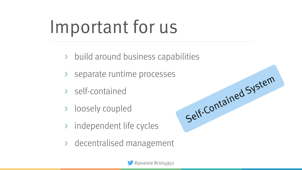 #javaone #con4952 Important for us > build arou...