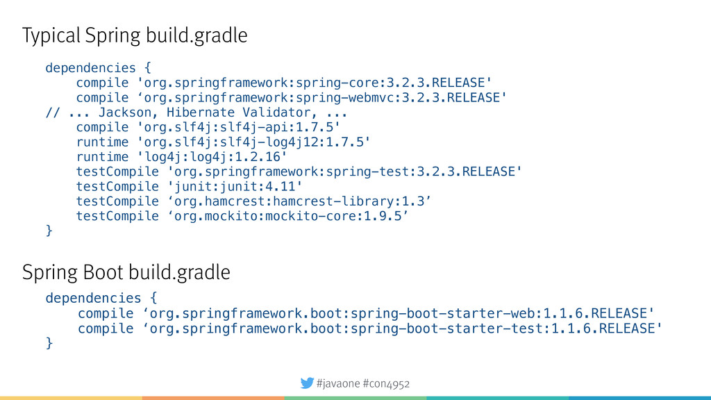 #javaone #con4952 dependencies { compile 'org.s...