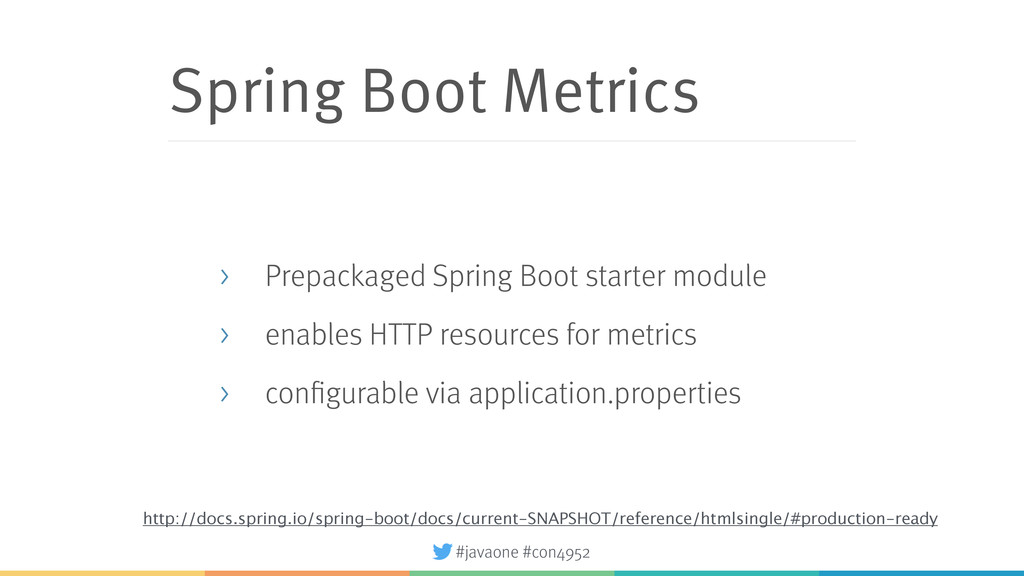 #javaone #con4952 Spring Boot Metrics > Prepack...