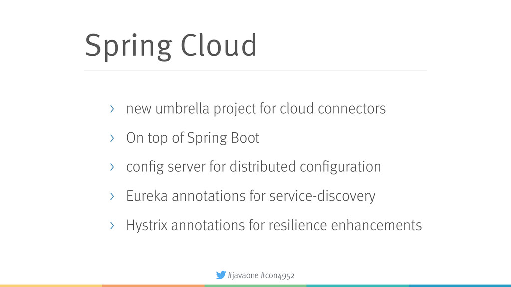 #javaone #con4952 Spring Cloud > new umbrella p...