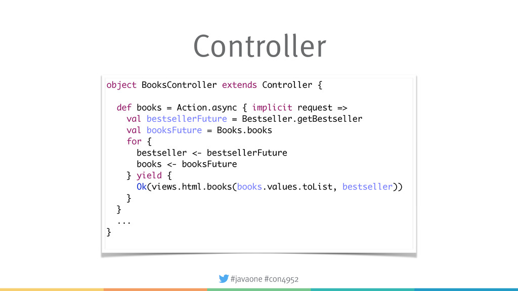 #javaone #con4952 Controller object BooksContro...
