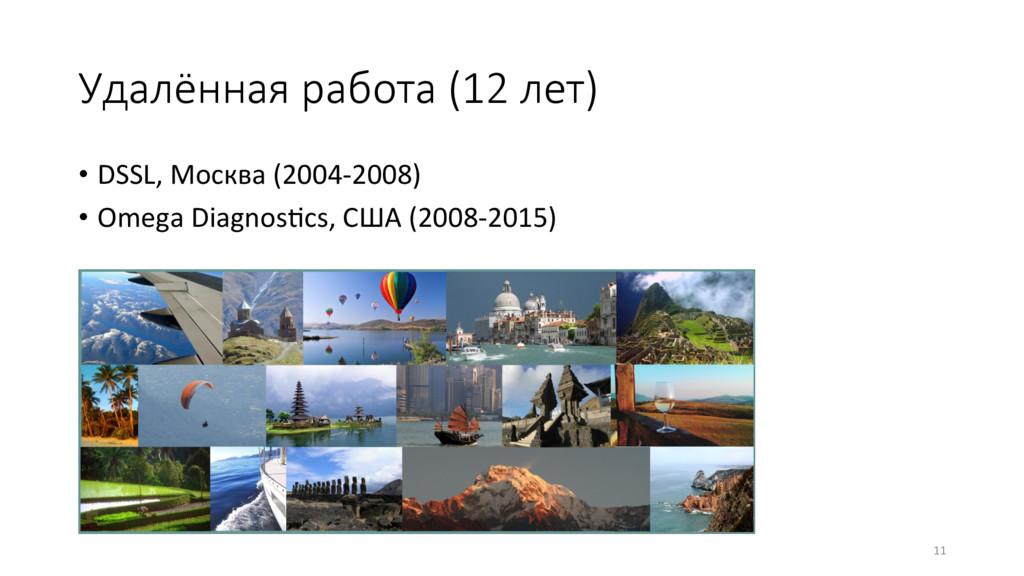 Удалённая работа (12 лет) • DSSL, Москва (200...