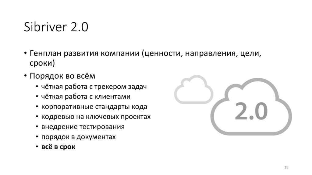 Sibriver 2.0 • Генплан развития компании (цен...