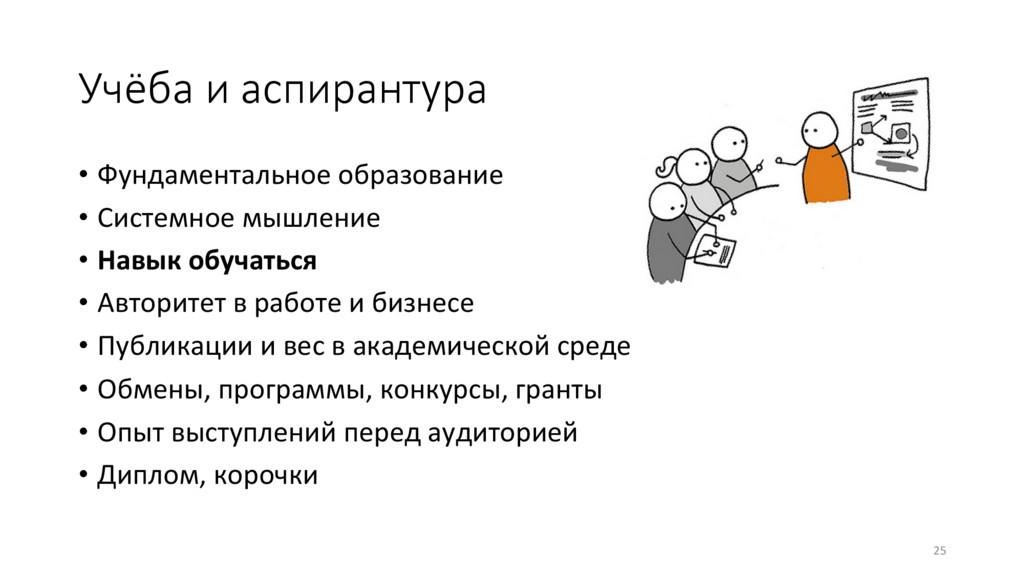 Учёба и аспирантура • Фундаментальное образов...