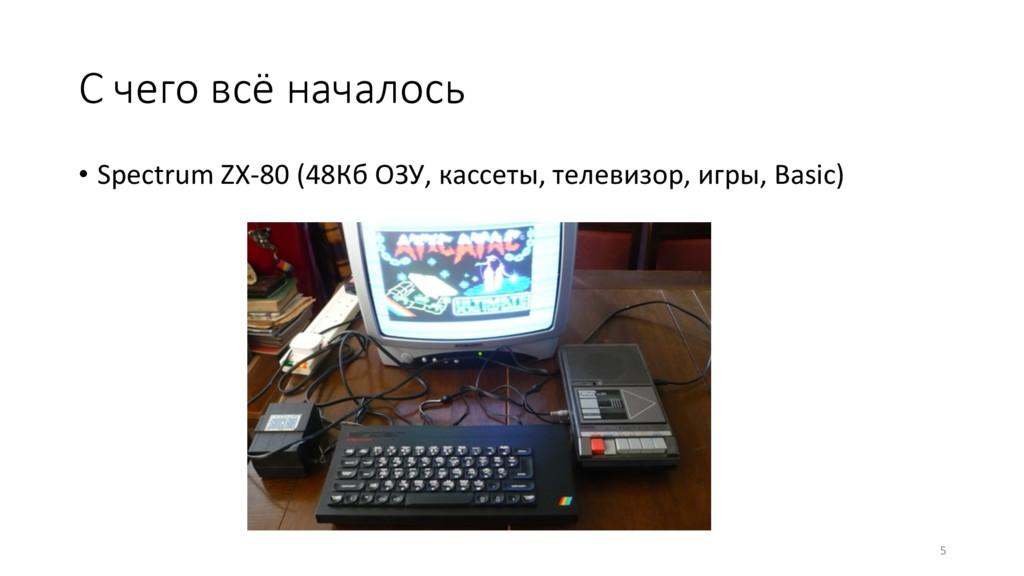 С чего всё началось • Spectrum ZX-80 (48Кб ОЗ...