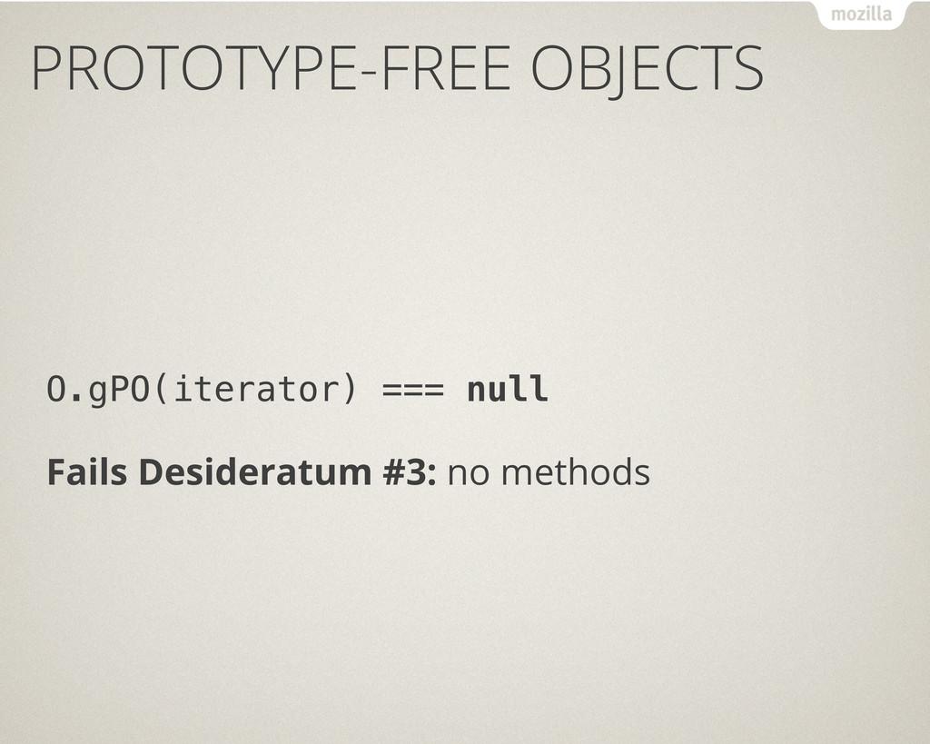 O.gPO(iterator) === null Fails Desideratum #3: ...