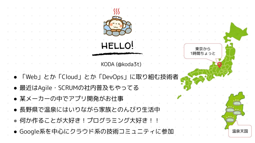hello! KODA (@koda3t) ● 「Web」とか「Cloud」とか「DevOps...