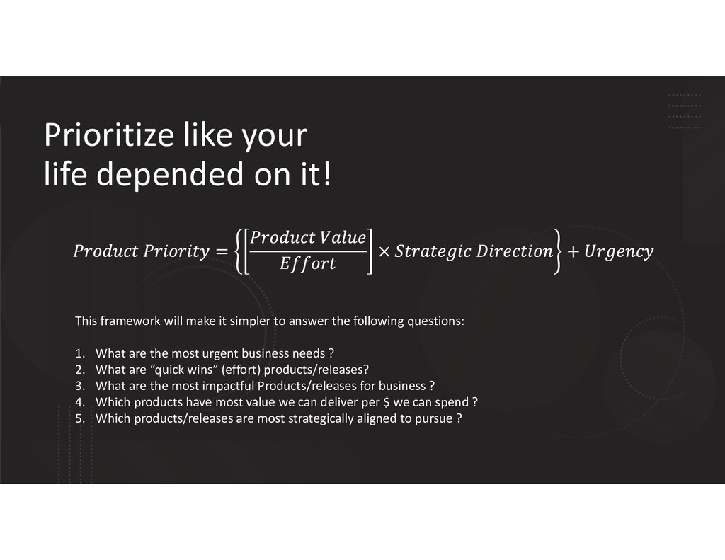 Prioritize like your life depended on it! This ...