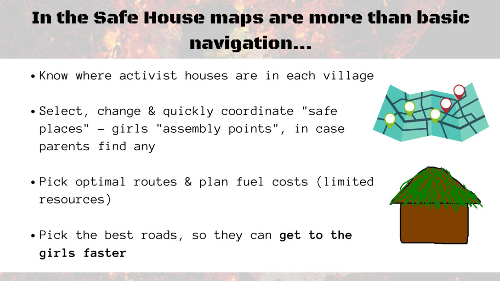 In the Safe House maps are more than basic navi...