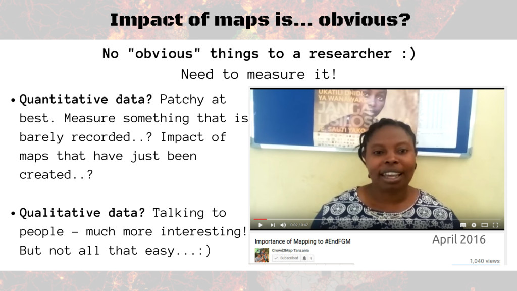 "Impact of maps is... obvious? No ""obvious"" thin..."