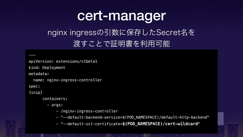 cert-manager --- apiVersion: extensions/v1beta1...