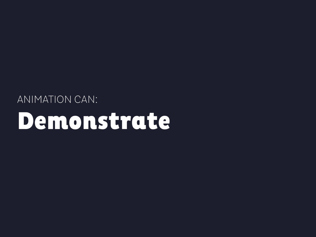 ANIMATION CAN: Demonstrate