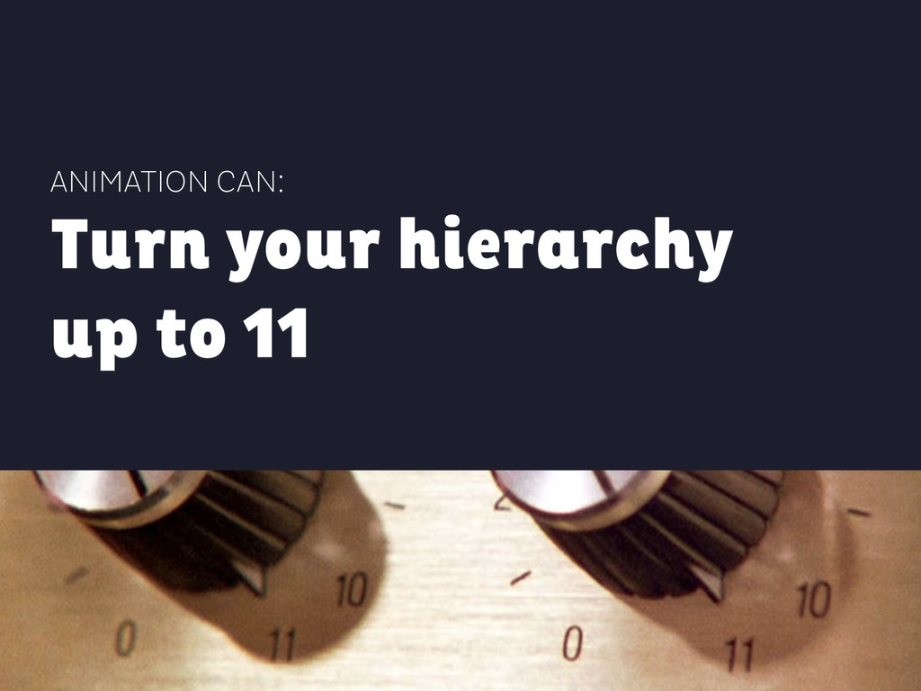ANIMATION CAN: Turn your hierarchy up to 11