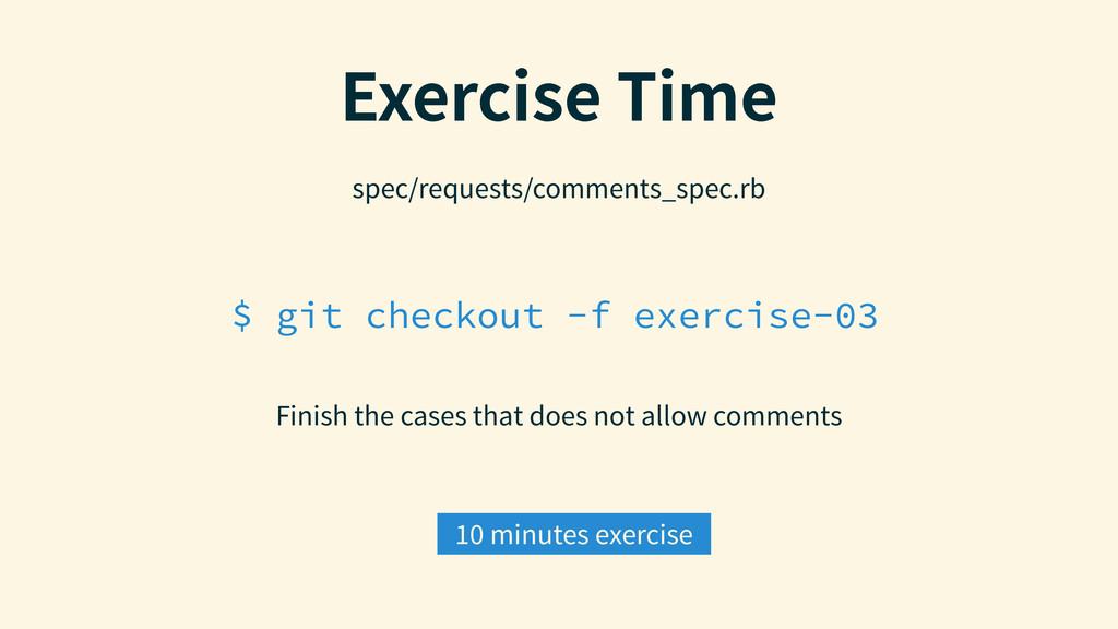 $ git checkout -f exercise-03 &YFSDJTF5JNF Fin...