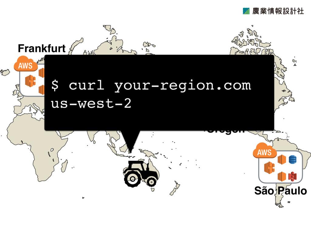 Oregon São Paulo Frankfurt $ curl your-region.c...