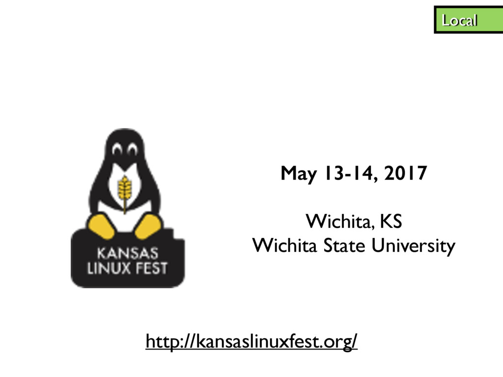 May 13-14, 2017 Wichita, KS Wichita State Unive...