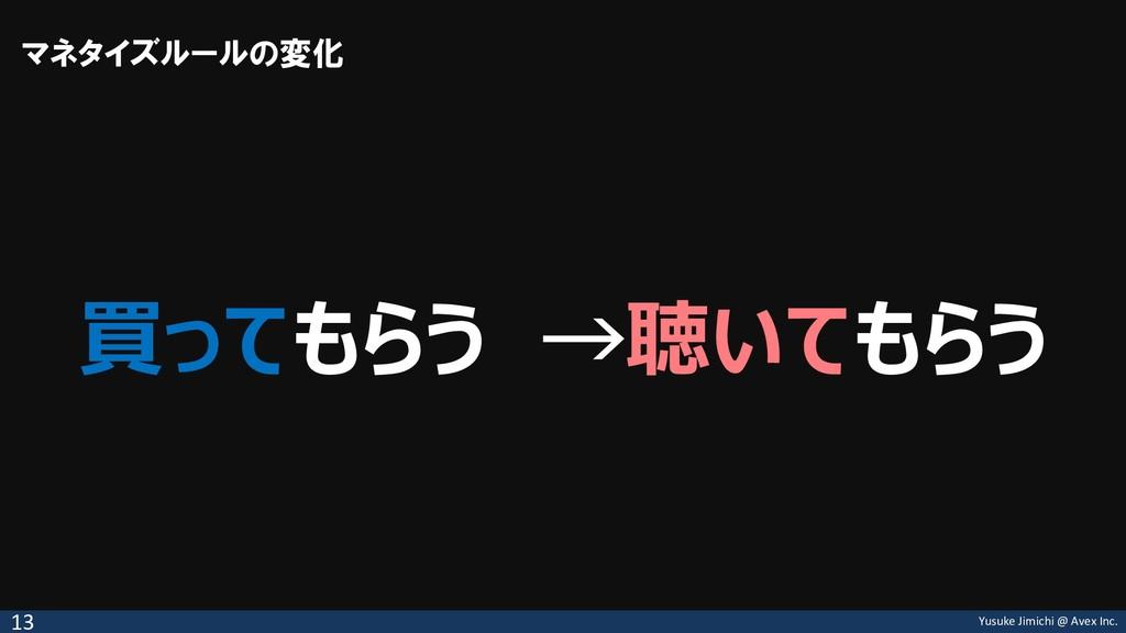 Yusuke Jimichi @ Avex Inc. 買ってもらう →聴いてもらう マネタイズ...