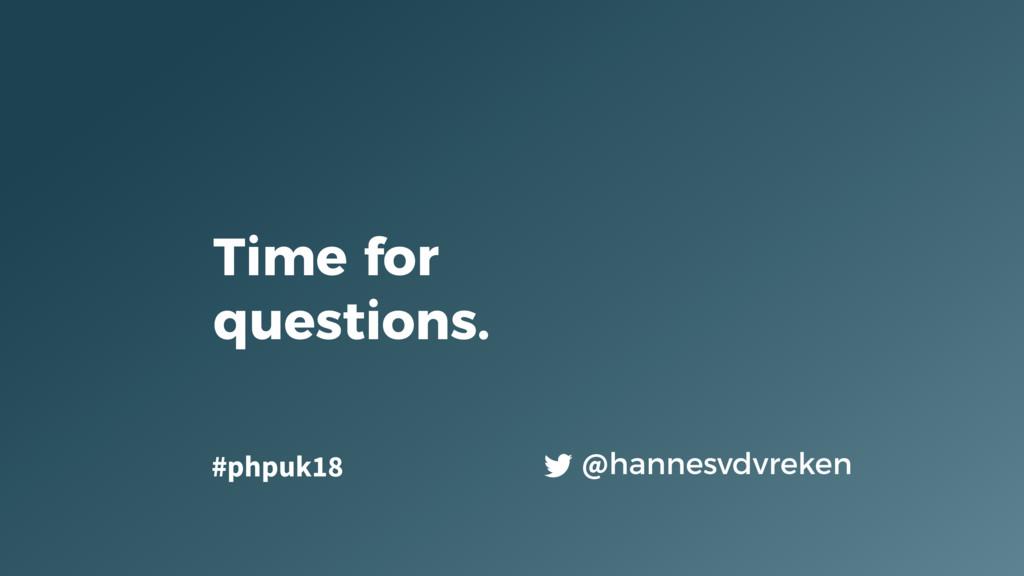 Time for questions. @hannesvdvreken #phpuk18