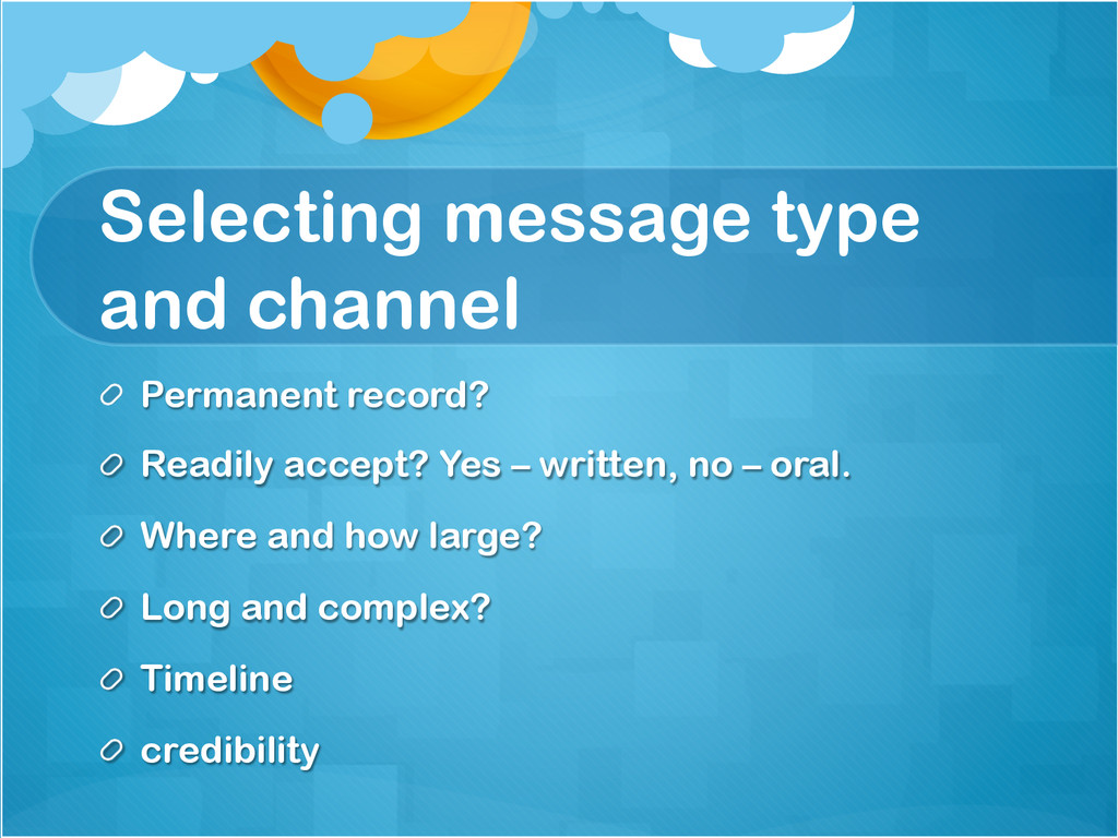 Selecting message type and channel !  Permanen...
