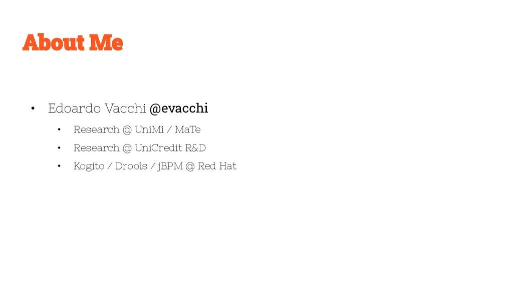 • Edoardo Vacchi @evacchi • Research @ UniMi / ...