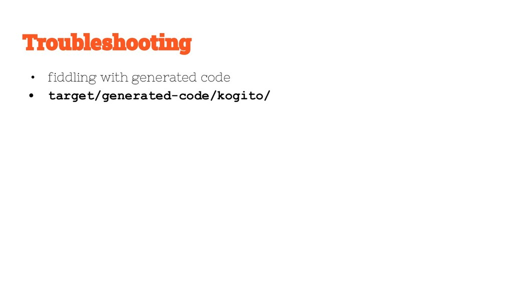 • fiddling with generated code • target/generat...