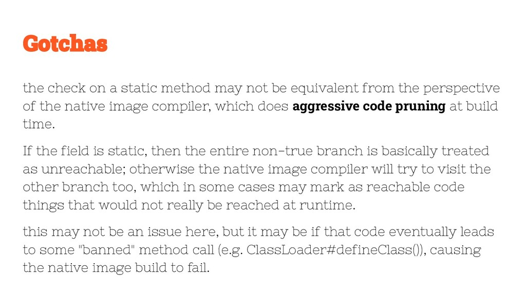 the check on a static method may not be equival...