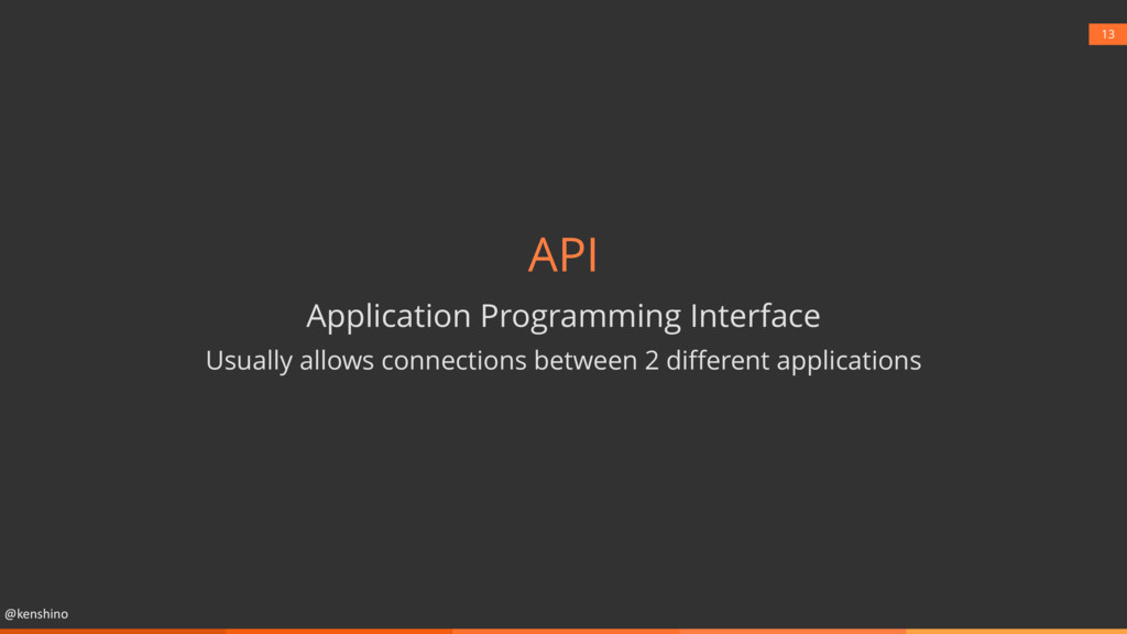 @kenshino 13 API Application Programming Interf...