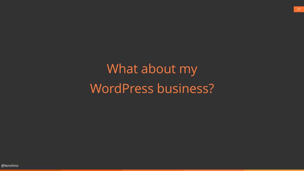 @kenshino 27 What about my WordPress business?