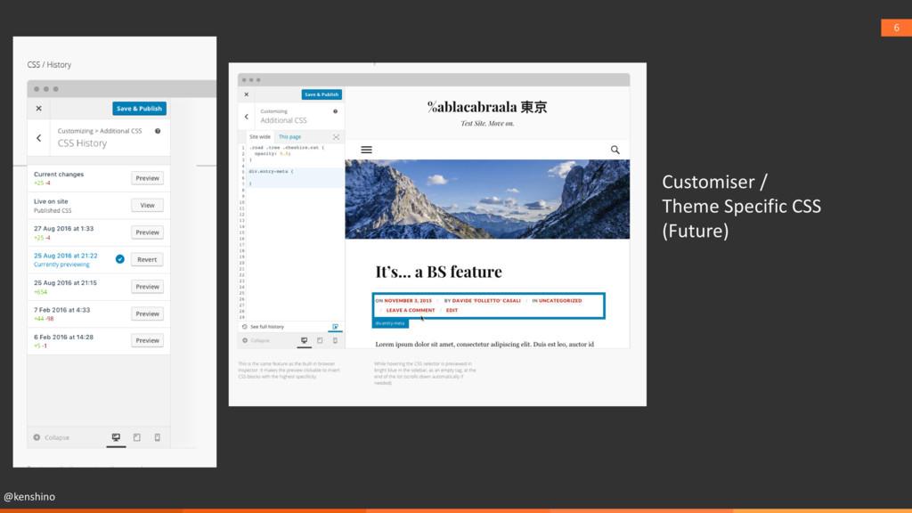 @kenshino 6 Customiser / Theme Specific CSS (Fu...