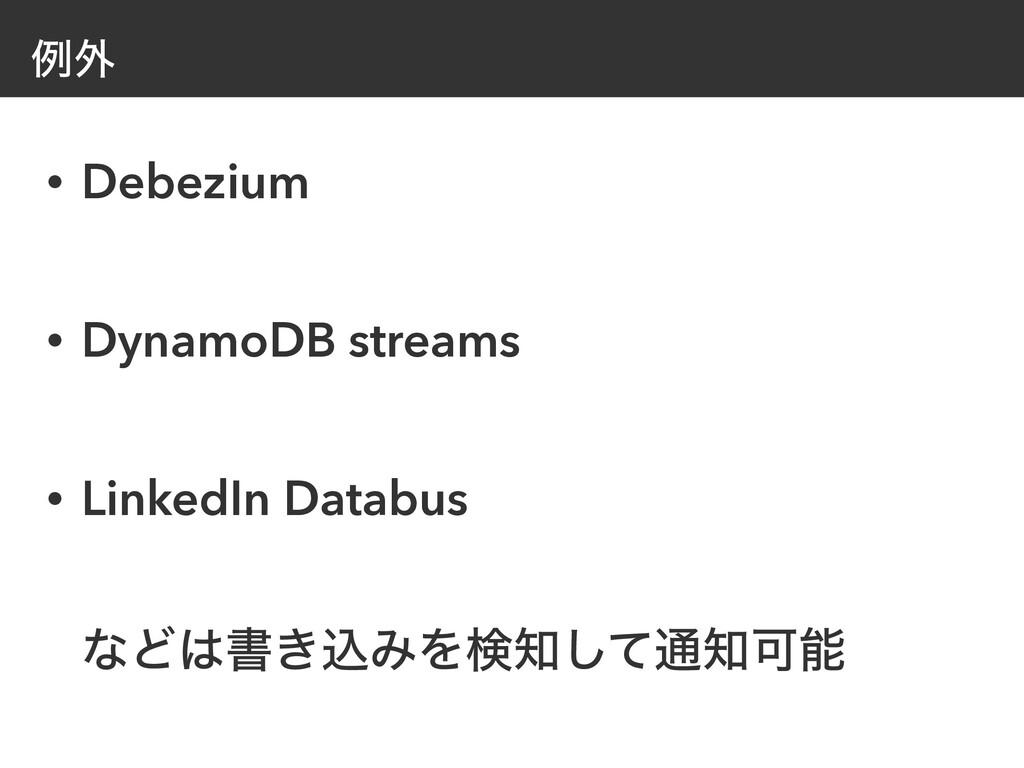 ྫ֎ • Debezium   • DynamoDB streams   • LinkedIn...