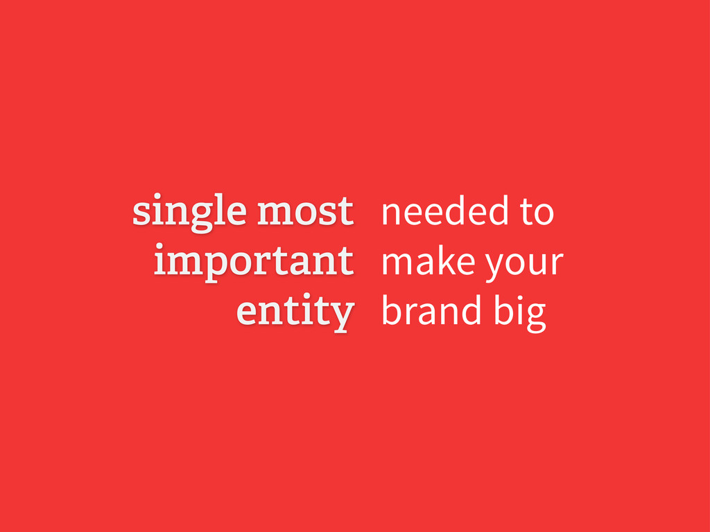 needed to make your brand big single most impor...