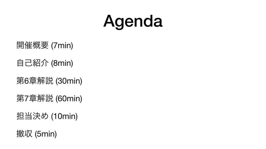 Agenda ։࠵֓ཁ (7min)  ࣗݾհ (8min)  ୈ6ষղઆ (30min) ...
