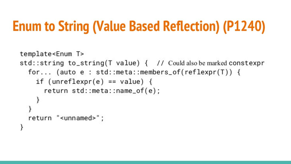 Enum to String (Value Based Reflection) (P1240)