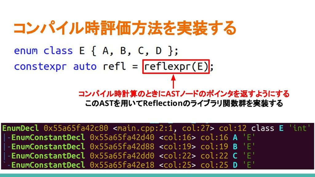 コンパイル時評価方法を実装する コンパイル時計算のときにASTノードのポインタを返すようにする...