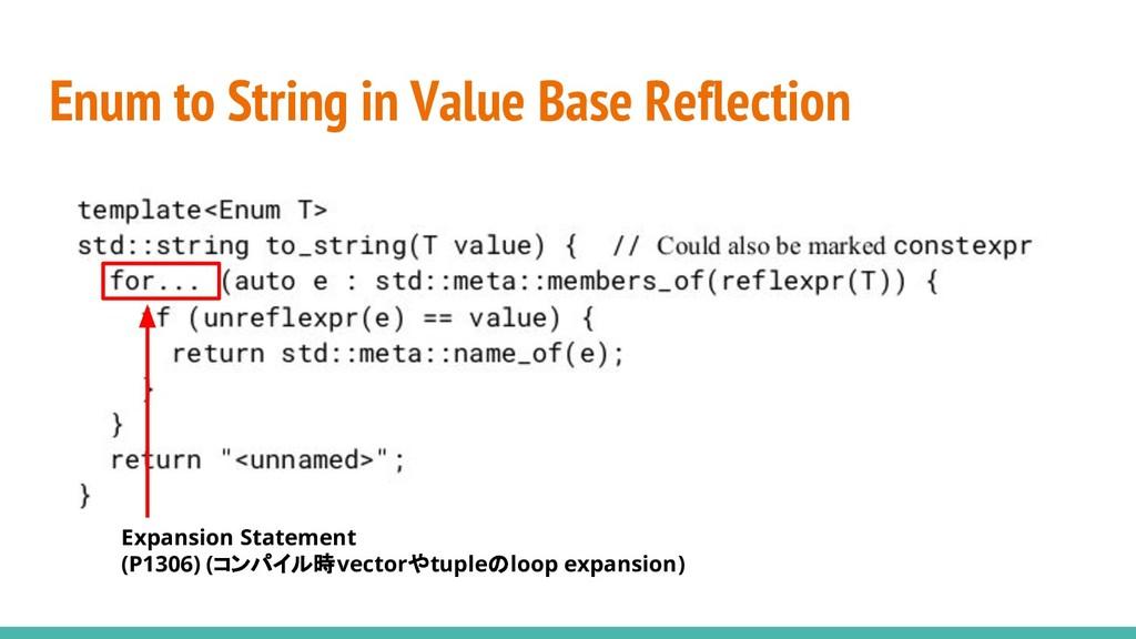 Enum to String in Value Base Reflection Expansi...