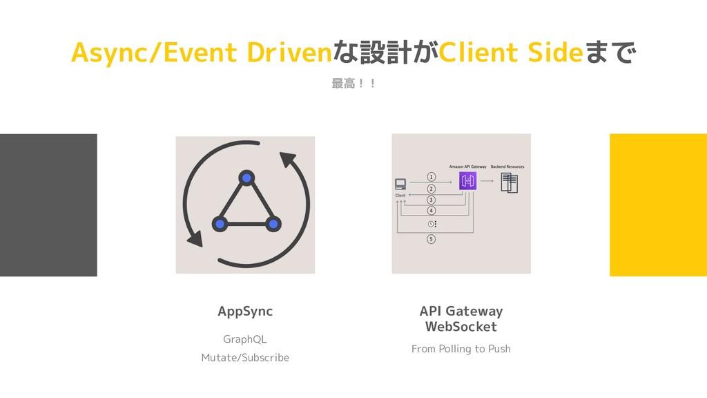 Async/Event Drivenな設計がClient Sideまで 最高!! GraphQ...