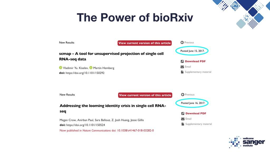 The Power of bioRxiv