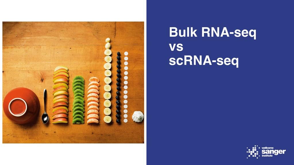 Bulk RNA-seq vs scRNA-seq