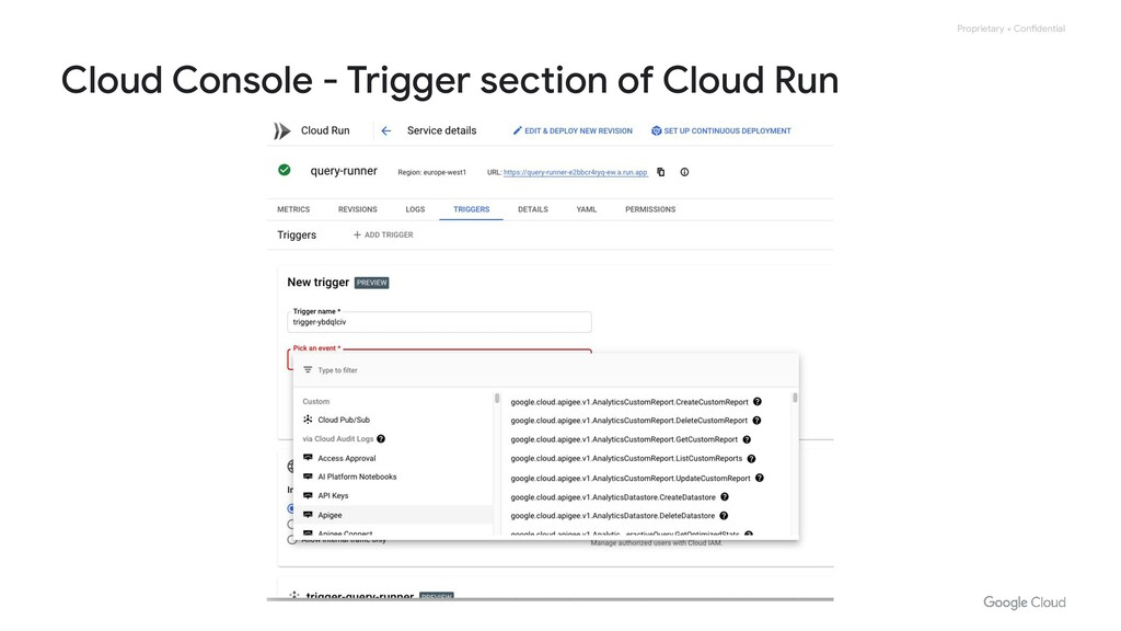 Proprietary + Confidential Cloud Console - Trig...