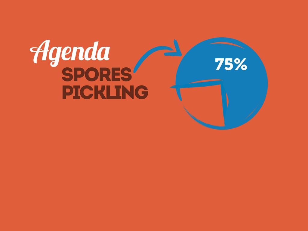 Spores pickling 75%