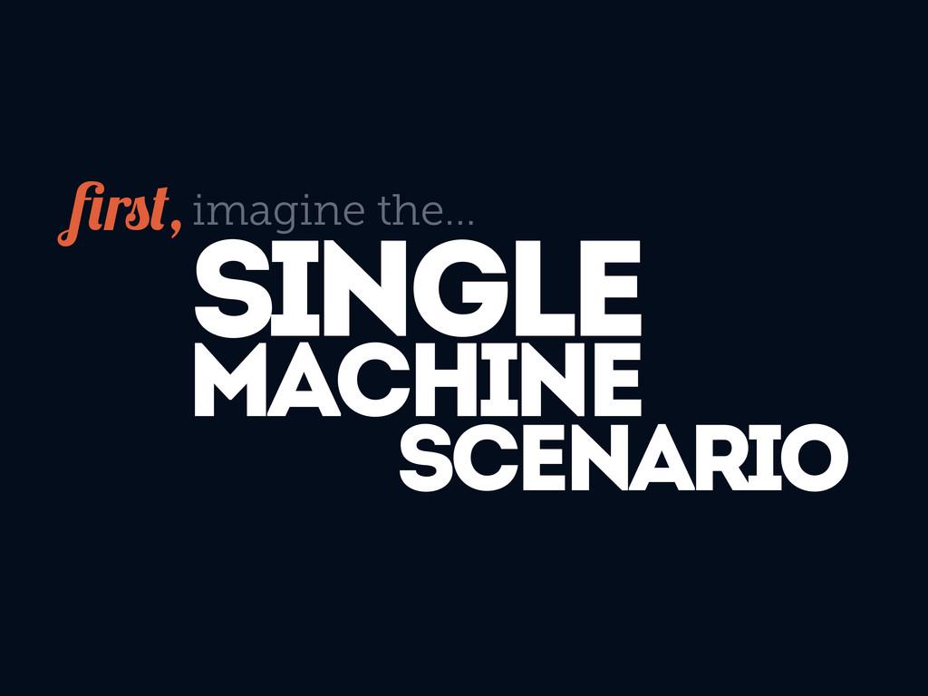 SINGLE MACHINE SCENARIO imagine the... r ,