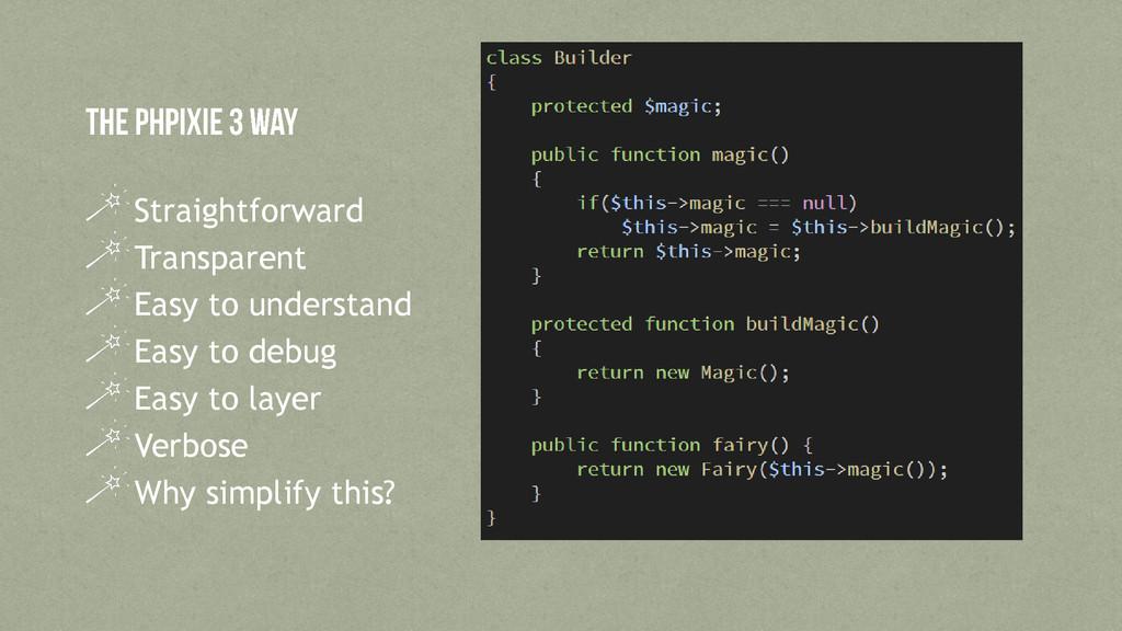 Straightforward Transparent Easy to understand ...