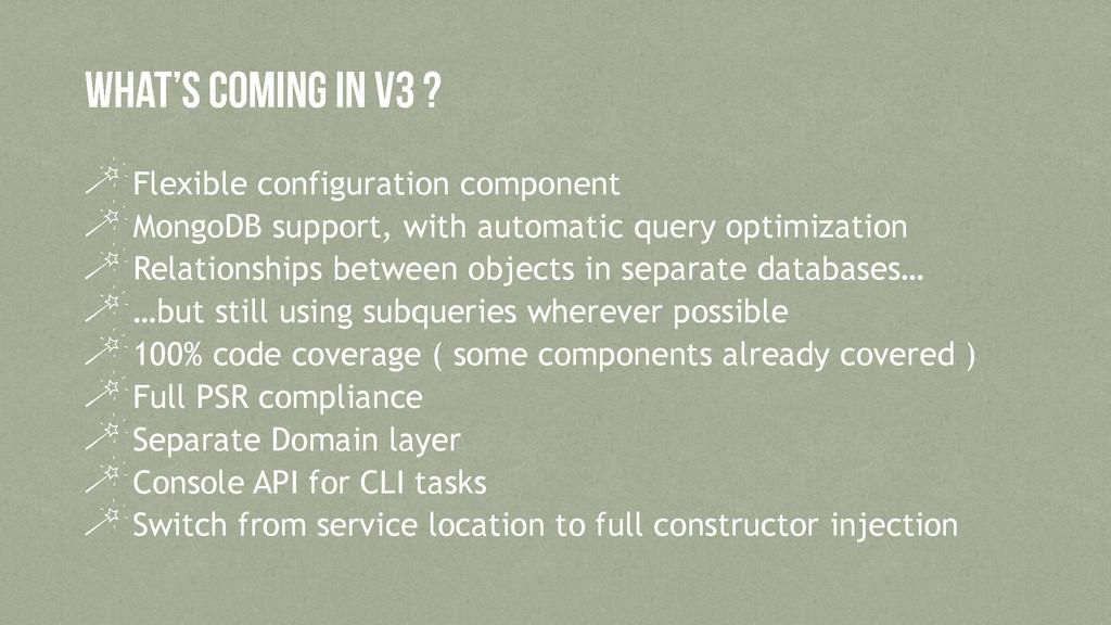 Flexible configuration component MongoDB suppor...
