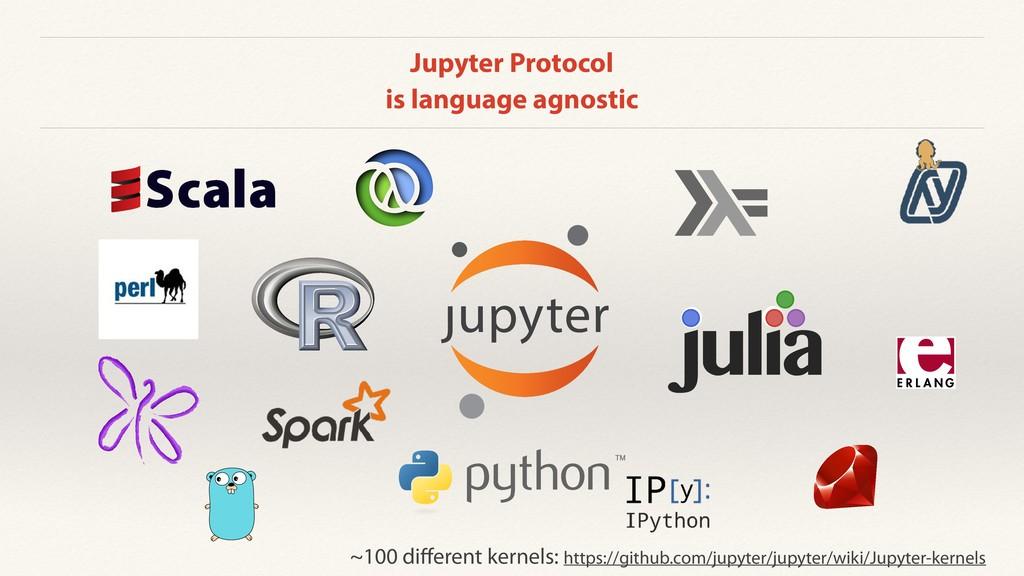 Jupyter Protocol is language agnostic u a l j i...