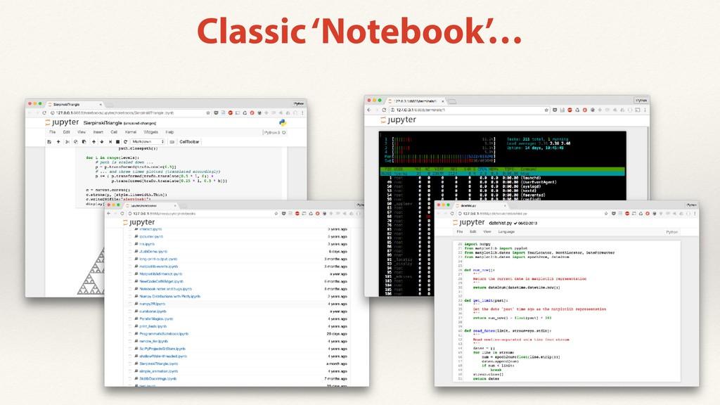 Classic 'Notebook'…