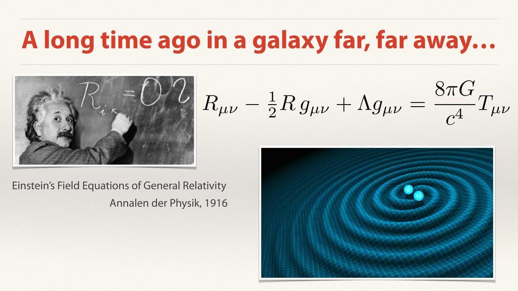 A long time ago in a galaxy far, far away… Rµ⌫ ...