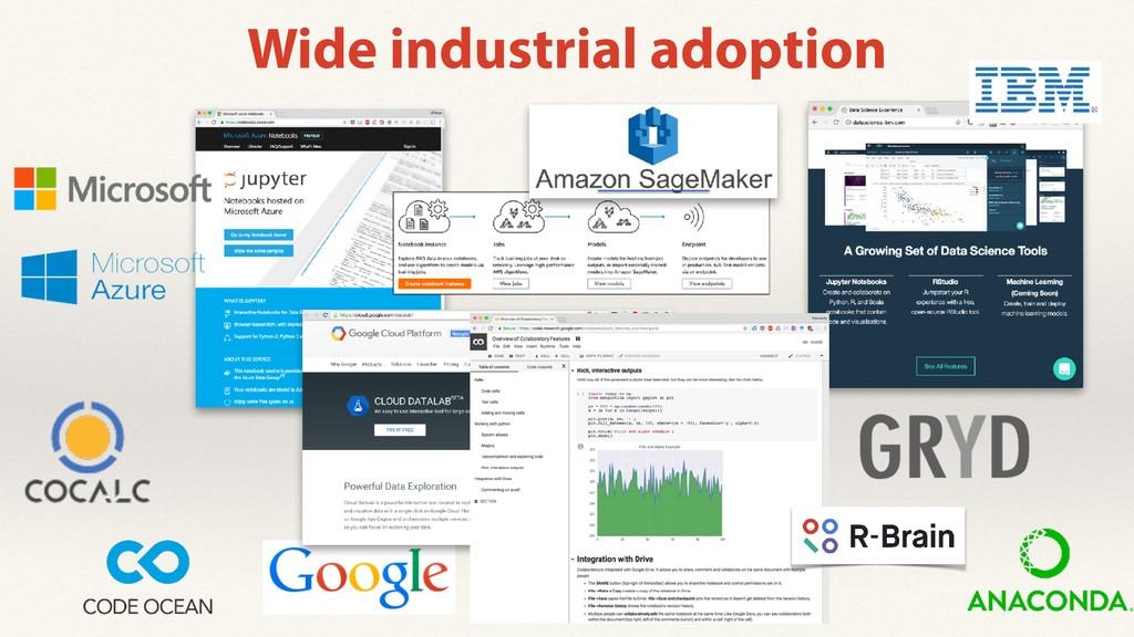 Wide industrial adoption