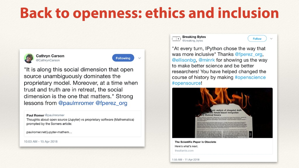 Back to openness: ethics and inclusion